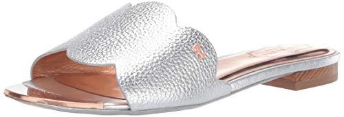 Ted Baker Women's Rhaill Slide Sandal Silver 8.5 Regular US