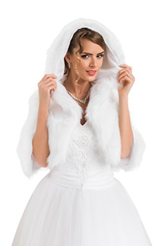 Veste-femme-pour-marie-imitation-fourrure-de-vison-bolro-cape-bolro-doublure-intgrale