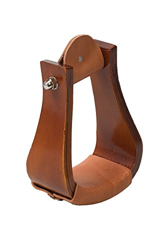 Weaver Leather Sloped Wooden Roper Stirrups with Leather