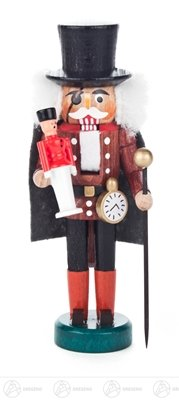 Nutcracker Drosselmeyer brown width x height of x depth 5 cmx13 cmx5 cm ore mountains Nutcracker Christmas figure wood