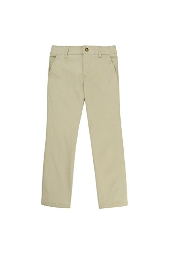 French Toast Little Girls' Straight Leg Pant, Khaki, 6X by French Toast