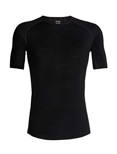 Icebreaker Merino Men's 150 Zone Short Sleeve Crew Neck Shirt, Black/Mineral, Large