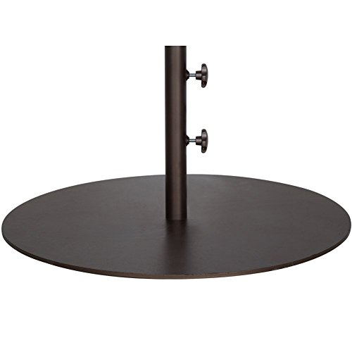 Abba Patio 27.4'' Umbrella Base Patio Umbrella Steel Stand Weights, 55 lbs, Brown by Abba Patio