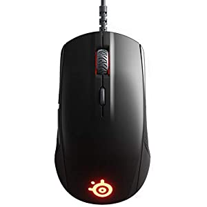 SteelSeries Rival 110 Gaming Mouse - 7,200 CPI TrueMove1 Optical Sensor - Lightweight Design - RGB Lighting (Renewed)