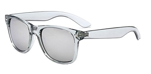 Sunglasses Classic 80's Vintage Style Design - Wayfarer Sunglasses Gray