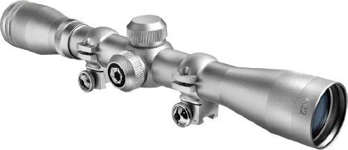 BARSKA 4x32 Plinker-22 Silver Scope w/ 3/8-Inch Rings (Barska Plinker 22 Scope With Rings 4x32)