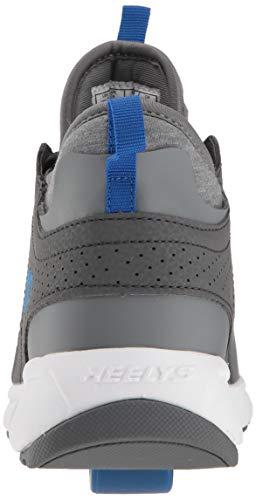 Heelys Boys' Piper Tennis Shoe Grey Heathered/Royal 8 M US Big Kid by Heelys (Image #2)