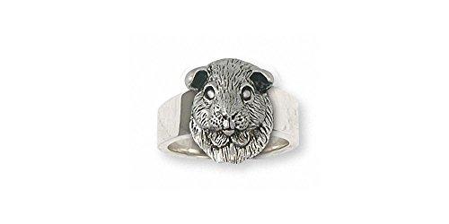 Guinea Pig Jewelry Sterling Silver Guinea Pig Ring Handmade Piggie Jewelry GP2-R