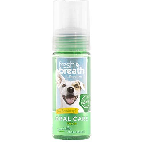 Tropiclean Fresh Breath Pet Mint Foam Plaque Remover 4.5oz