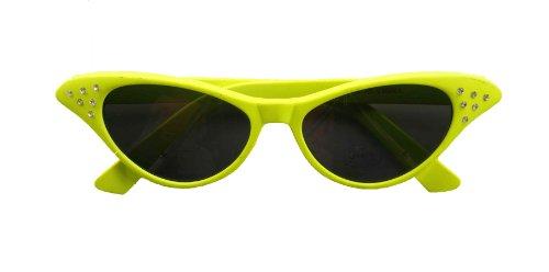 Rhinestone Accented Neon Costume Glasses