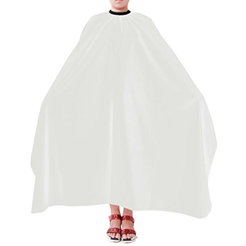 uxcell Waterproof Salon Hair Styling Cutting Hairdresser Barbers Cape Haircut Cover White (Hair Net Nylon White)