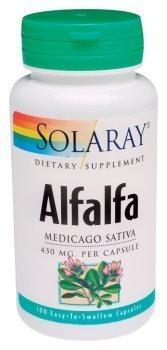 Solaray - Alfalfa, 430 mg , 100 capsules by Solaray