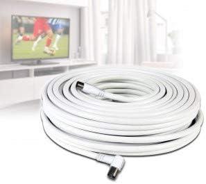 Cable coaxial de 30 metros para la conexión de antena TV ...