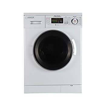 Image of Home and Kitchen Equator 24 inch Compact New Version All-in-One Combo Washer-Dryer, Vented or Ventless, 1200 RPM, Auto Water, Auto Dry, Winterize, Quiet, Fully Digital in White 2019 Model