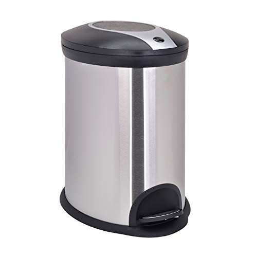 Bathla Silver and Black Stainless Steel Step Bin (20 Ltrs) Price & Reviews