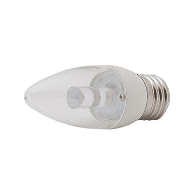 EcoSmart 25W Equivalent Soft White B11 Clear Blunt Tip Decorative LED Light Bulb