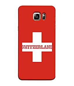 ColorKing Football Switzerland 03 Red shell case cover for Samsung S6 Edge Plus