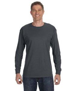 Jerzees Men's Heavyweight Blend 50/50 Long Sleeve T-Shirt (Charcoal Grey, Medium) (Heavyweight Youth Blend Jerzees)