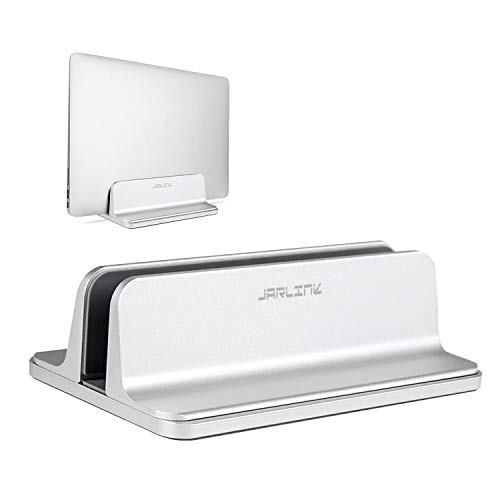 JARLINK Vertical Laptop Stand, Adjustable Laptop Holder Desktop Stand with Adjustable Dock Size (Up to 17.3 inch) Compatible MacBook Air / Pro, Microsoft Surface, Lenovo Dell Laptop (Silver) by JARLINK