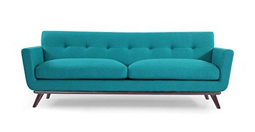 entury Modern Classic Sofa, Turquoise Wool (I Love Lucy Lounge)