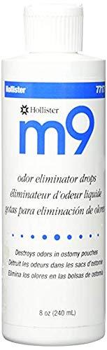 Hollister M9 Odor Eliminator Deodorant Drops, 8 Fluid Ounce 8 Oz Ostomy Pouch Deodorizer