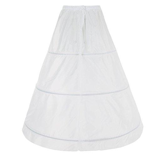 TiaoBug Flower Girls Bridal Wedding Dress 3 Hoops Petticoat Underskirt Crinoline Slip White #7(Women) by TiaoBug