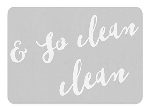 So Fresh and So Clean Clean Bathroom Rug Bath Mat with Words Grey Bathroom Rug Rugs with Sayings Apartment Bathroom Typography Decor