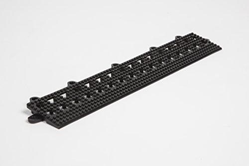 Dri-Dek - 2x12 Edges & 2x2 Corners - Flexible Patio, Lanai, Balcony, Basement & Pool Deck Flooring Beveled Ramps (2x12 Dri-Dek Edge - 6-Pack, Black)