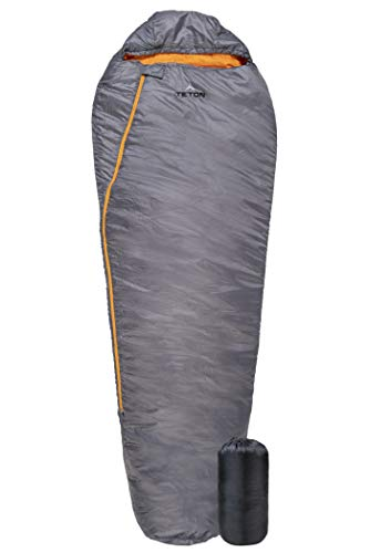 TETON Sports Outpost Sleeping Bag Lightweight Backpacking Sleeping Bag for Hiking and Camping Outdoors in Warm Weather Never Roll Your Sleeping Bag Again Stuff Sack Included