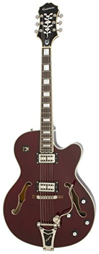 Epiphone EMPEROR SWINGSTER Hollow Body Electric Guitar with Bigsbby Tremelo and  pickup switching, Wine Red