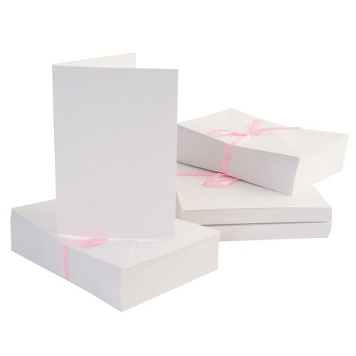 Price comparison product image Anita's 100 x A6 Blank Cards & Envelopes - White
