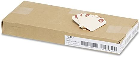 Avery 12301 Unstrung Shipping Tags, 13-pt  Stock, 2 3/4 x 1 3/8, Manila  (Box of 1000)