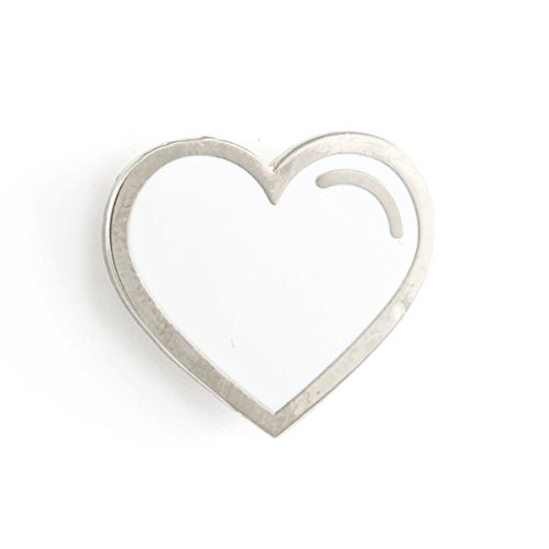 Enameled Silver Pin (These Are Things White Heart Enamel Pin)
