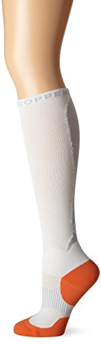 Tommie Copper Women's Performance Takeoff Over The Calf Socks, White, 7-9.5