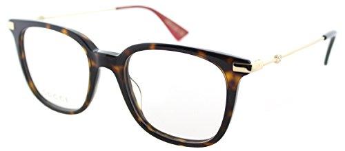 Eyeglasses Gucci GG 0110 O- 002 002 AVANA / GOLD by Gucci