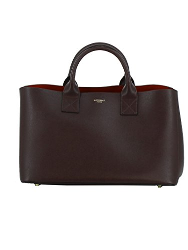 Avenue Leather Tote - AVENUE 67 WOMEN'S EB052A0021BURGUNDY BURGUNDY LEATHER TOTE