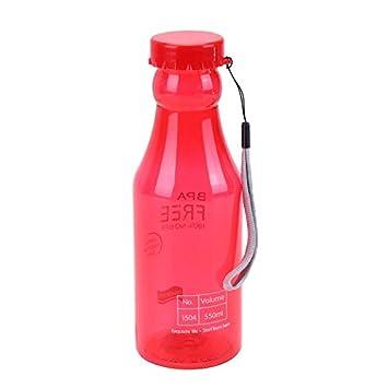 Sports Water Bottle - 550ml Sports Water Pot Bottle Container Leak Proof Climbing Camping Botellas De Plastico - Lids Non Brush Landnics Replacement ...
