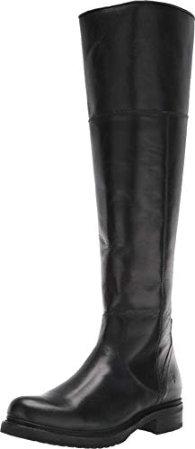 FRYE Women's Veronica Shearling Tall Snow Boot, Black, 10 M US