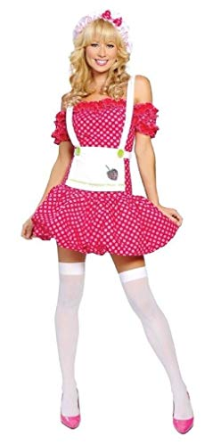 (ESSA OAT clothes series Sweet Strawberry Costume Dress Apron Hat Shortcake Polka Dot)