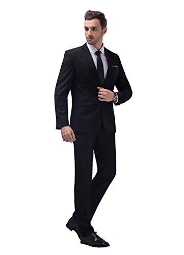 POSHAWN - Costume - Homme noir noir