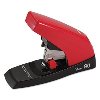 Brand New Max Vaimo 80 Heavy-Duty Flat-Clinch Stapler 80-Sheet Capacity Red/Brown by Original Equipment Manufacture