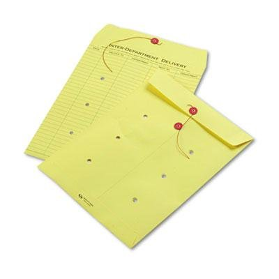 Brand New Quality Park Colored Paper String & Button Interoffice Envelope 10 X 13 Yellow - Envelopes New Interoffice