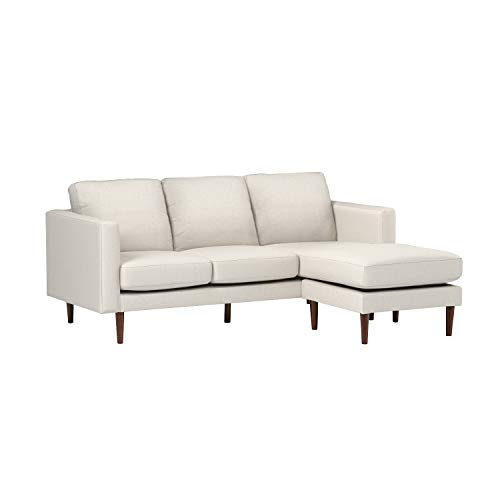 Rivet Revolve Mid-Century Modern Reversible Chaise Sectional Sofa Couch, 80