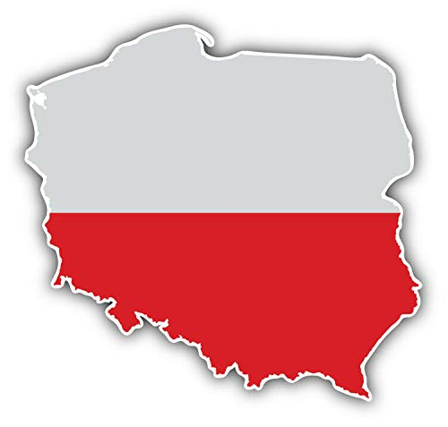 KW Vinyl Magnet Poland Map World Flag Truck Car Magnet Bumper Sticker Magnetic 5