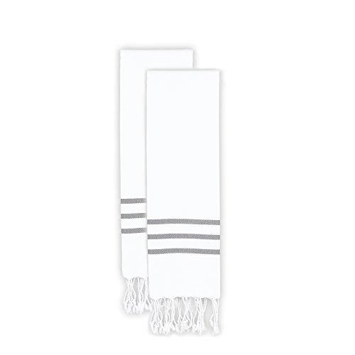 Linum Home Textiles Alara Pestemal Hand/Guest Towels , White
