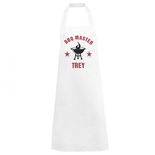 BBQ Grill Master Trey: Basic White Apron (Baking Trey)