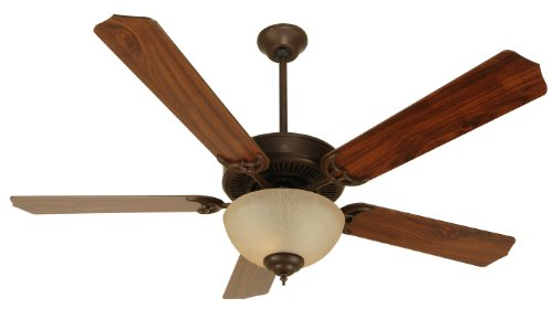 (Craftmade K10626, Pro Builder 202 C202AG Ceiling Fan in Aged Bronze Textured with 52