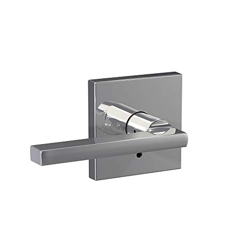 Chrome Interior Pack - Schlage Custom FC21 LAT 625 COL Latitude Lever with Collins Trim Hall-Closet and Bed-Bath Lock, Bright Chrome