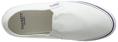 Hackett para Hombre Blanco White On Mocasines Slip London Bamba fqZwzgF