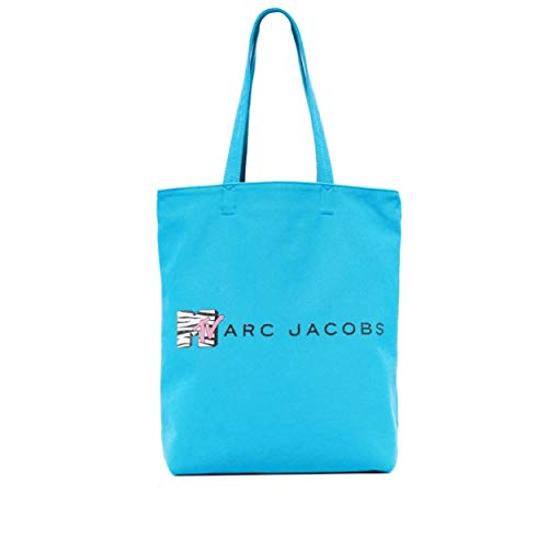 Marc Jacobs Women's MTV Canvas Tote, Turquoise Multi, One Size
